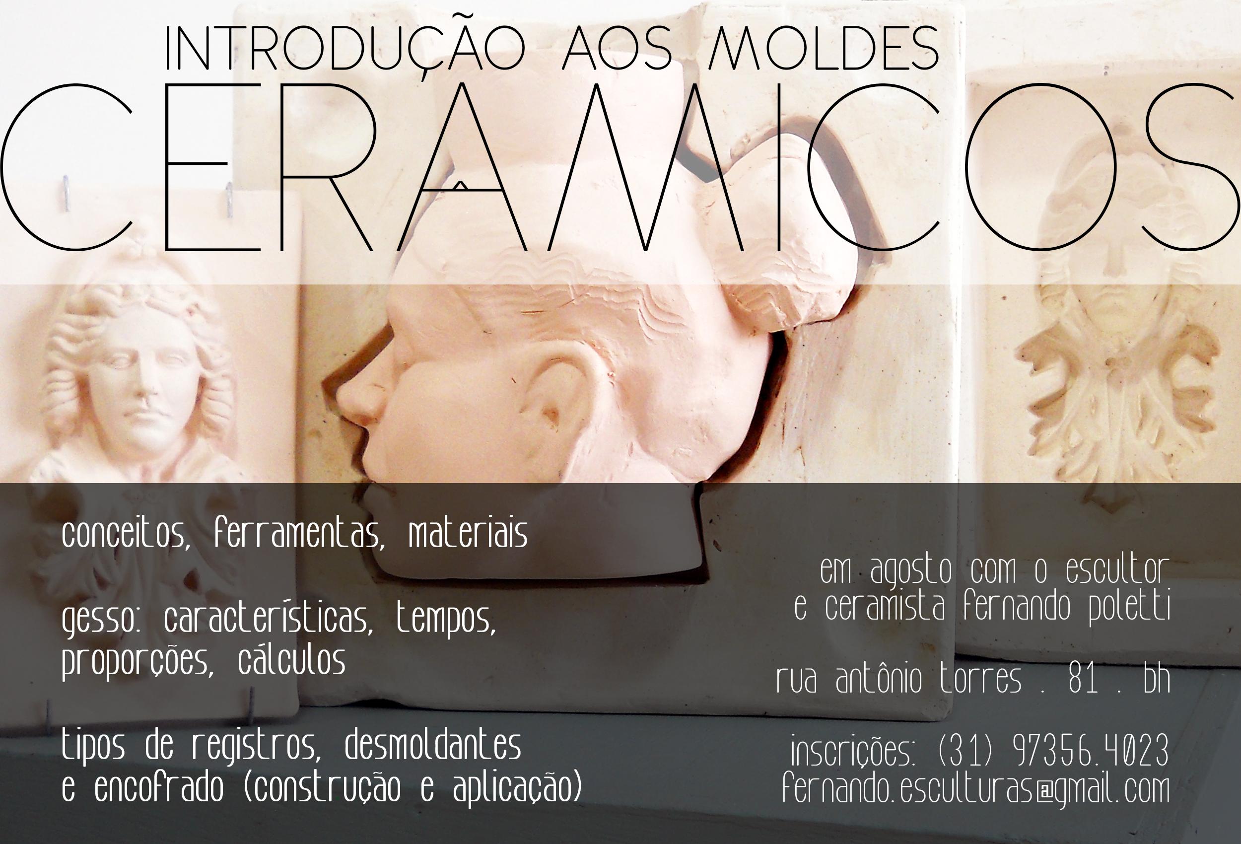 2018 . MOLDES CERÂMICOS . reprodução cerâmica realizada com gesso