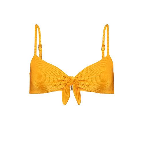Top | Capri | Canelado  Amarelo