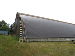 New Metal Roofing on Prentiss Shed