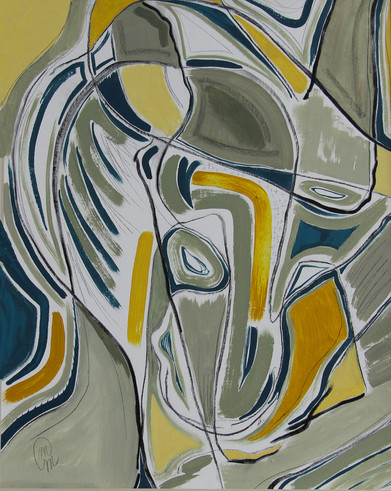 Cubism with mask