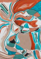 Turquoise cubism