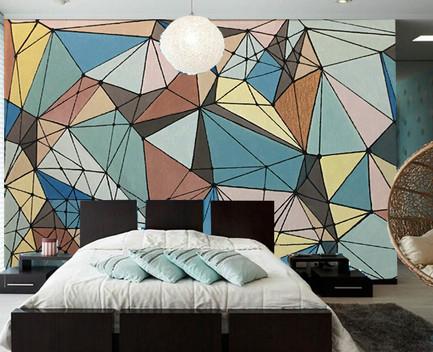 """Fresque """"Voronoï"""" chambre"""