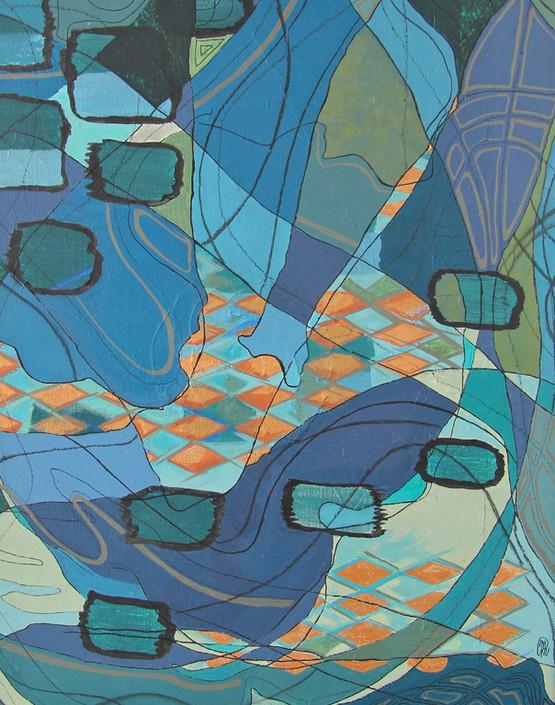 Jacquard turquoise