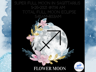 The Sagittarius♐️ Super Full Moon🌕 & The Only Total Lunar Eclipse of 2021