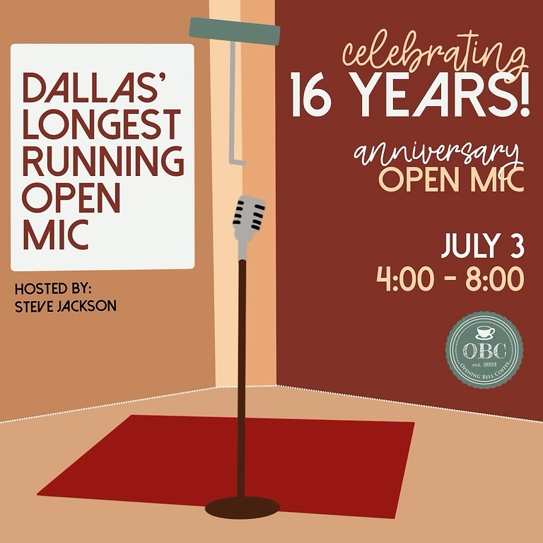 Open Mic 4-6 pm (Since 2005!)