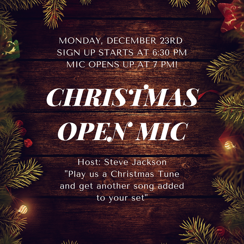 Opening Bell's Open Mic Since 2005!! MONDAY NIGHT this week!