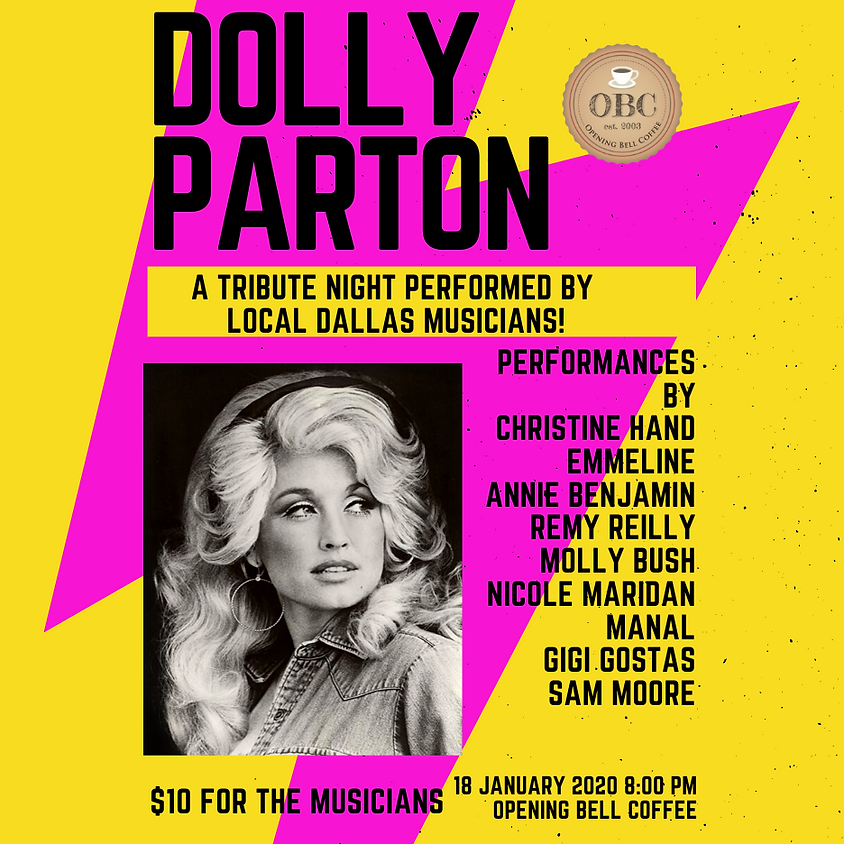 Dolly Parton Tribute Show! Arrive by 7:00 pm for a good seat!