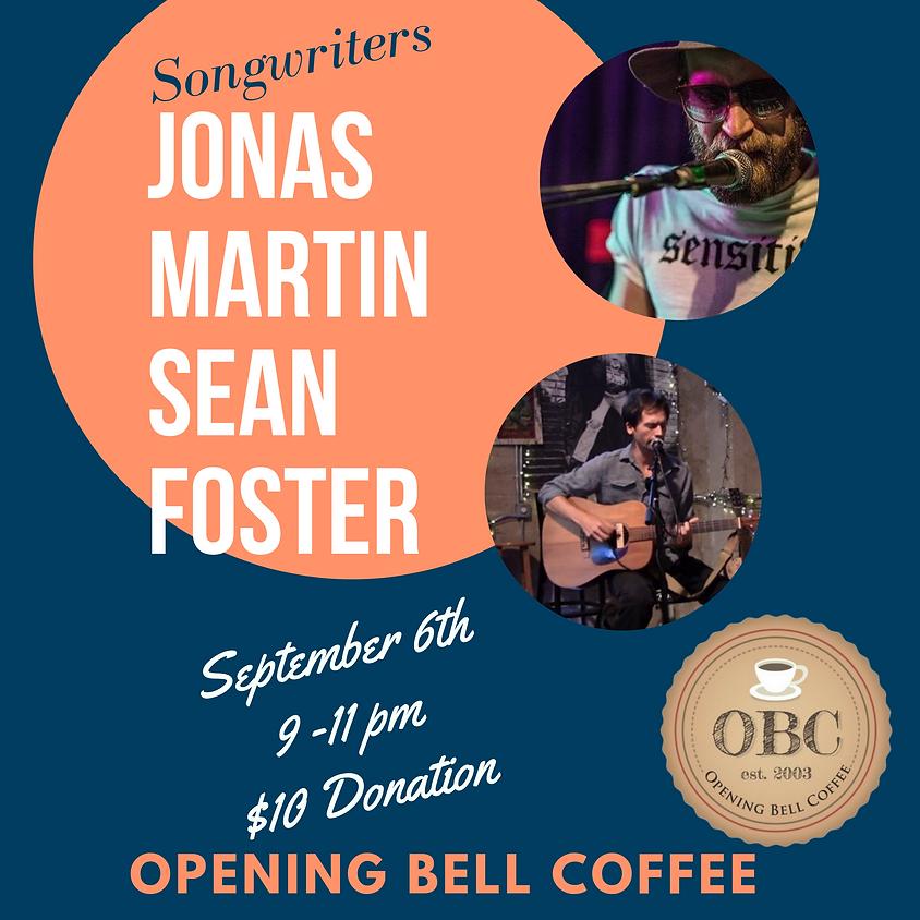 Jonas Martin & Sean Foster 9:00 pm