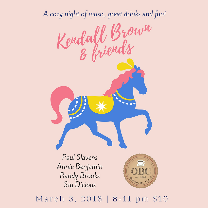 Kendall Brown & Friends (Dallas/Denton) 8:00 pm