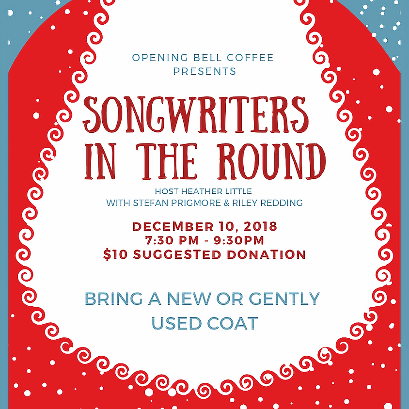 Songwriters in the Round (Nashville style) 7:30 pm
