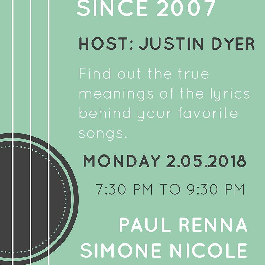 Songwriter Round (Since 2007) Host Justin Dyer 7:30 pm