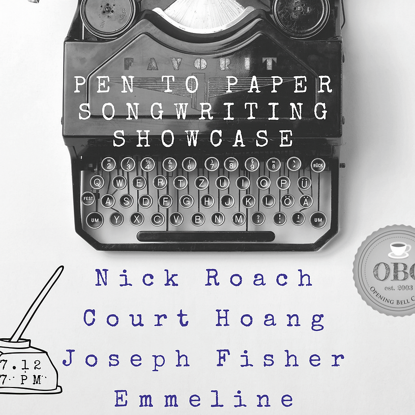 Pen to Paper Songwriting Showcase 7:00 pm