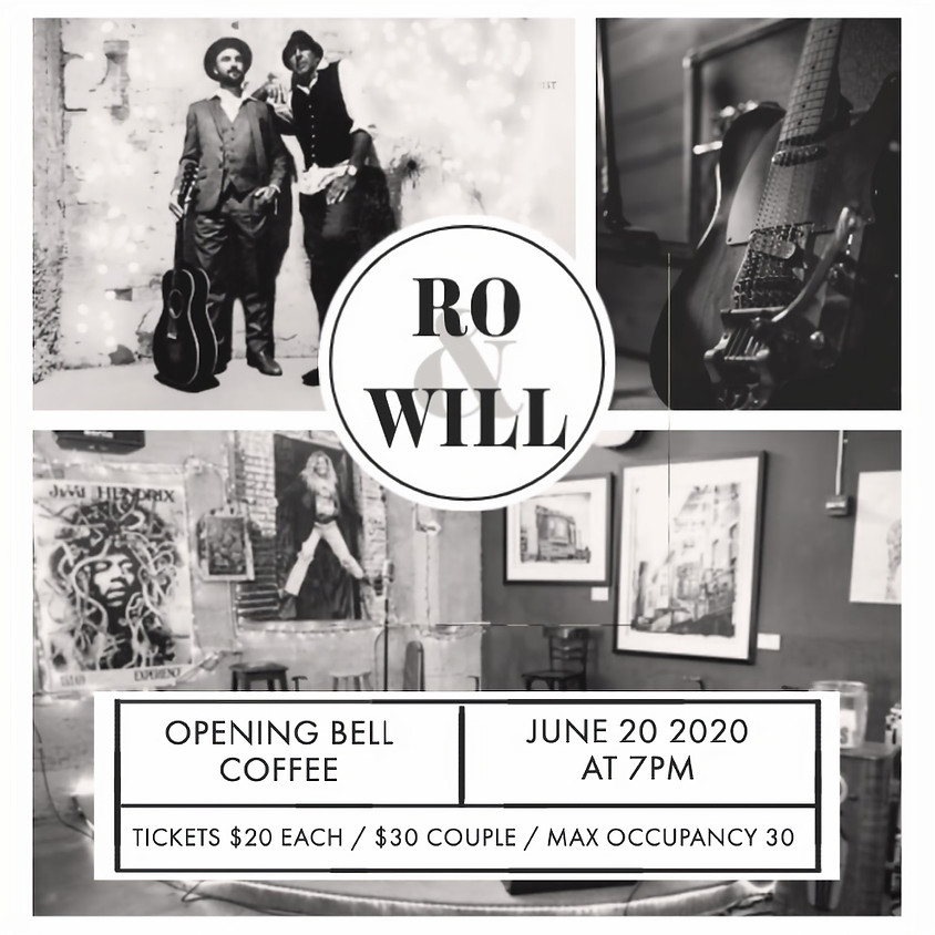 Ro & Will Hooper Intimate Show (Limited Safe Seating!)