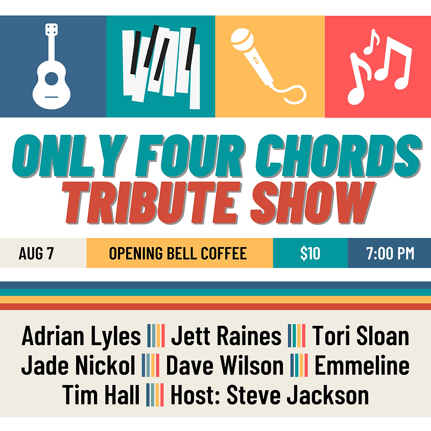Only Four Chords Tribute Show 7:00 pm