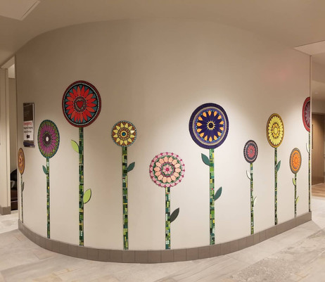 Riverview Clinic-Mandala Flowers Mural