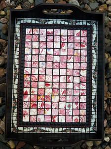 Vintage China Tiled Tray