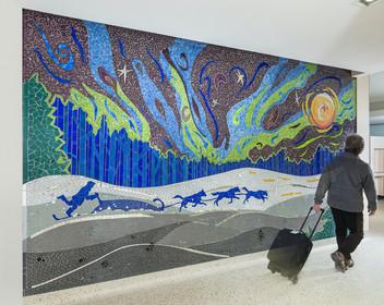 Winter Run, MSP Airport Mural