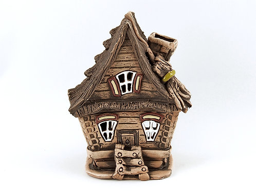 House candle holder /Oil Incense Burner Size: 13x10x12 cm.  SKU:33h-FSC-01