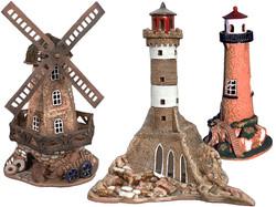Lighthouses, mills