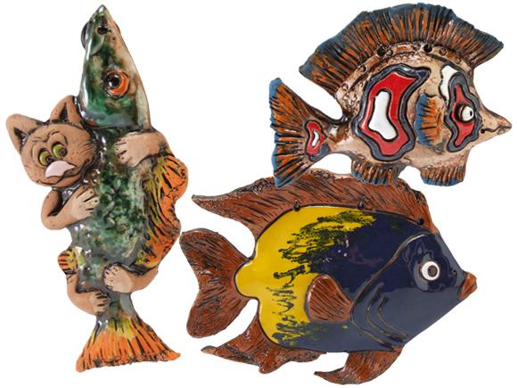 Panels of fish