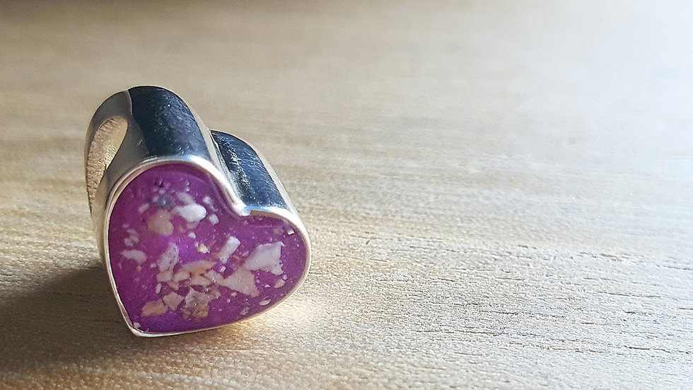 Heart shaped bracelet charm