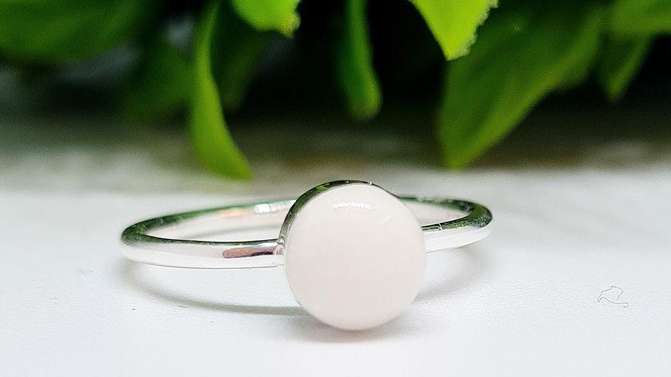 Breastmilk 6mm circle ring