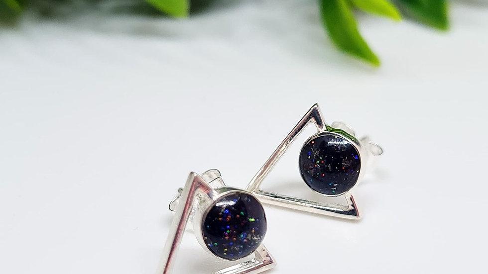 Geometric memorial earrings