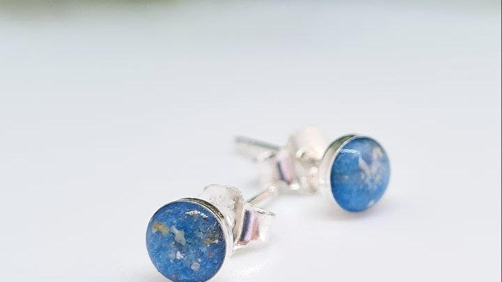 Tiny 4mm memorial earrings