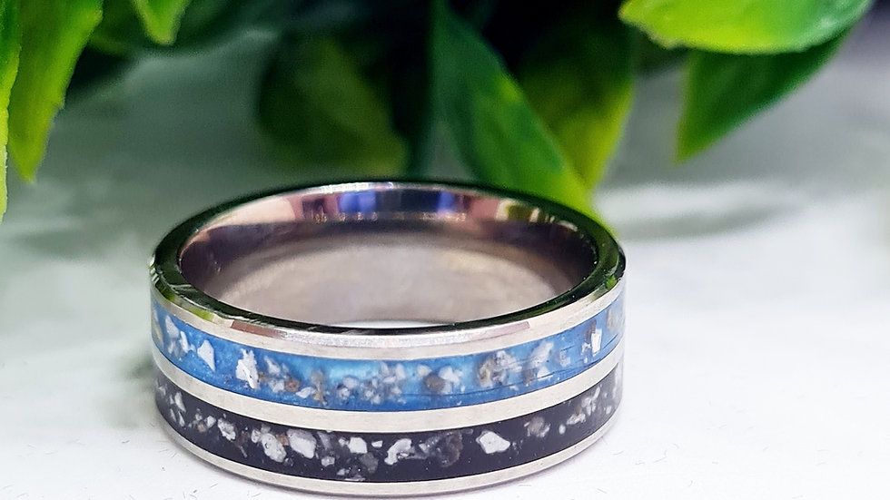 Double Channel Inlay Ring