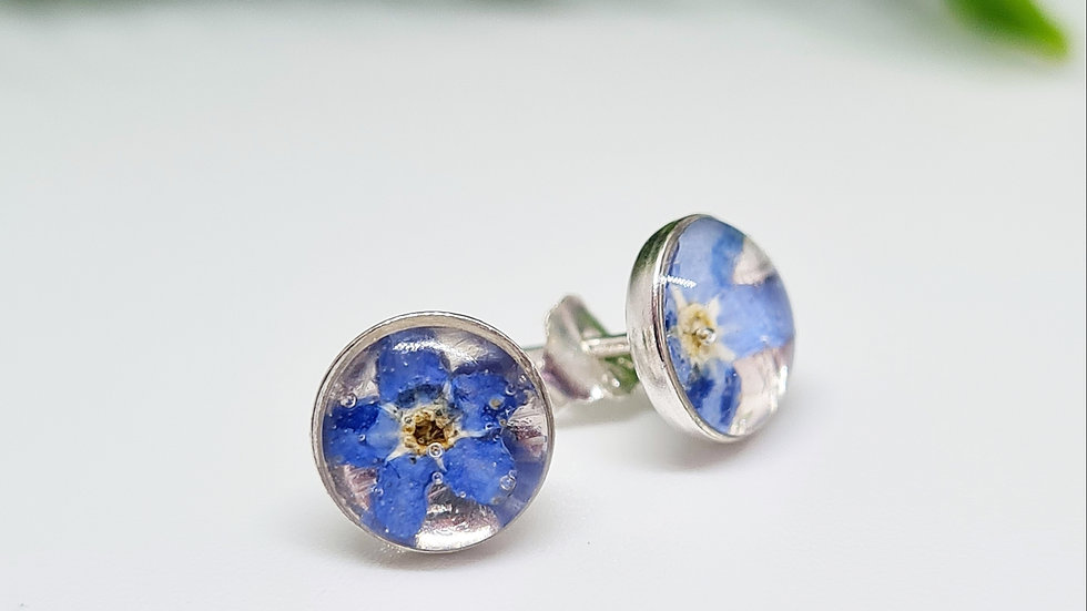 Forget-me-not studs 6mm
