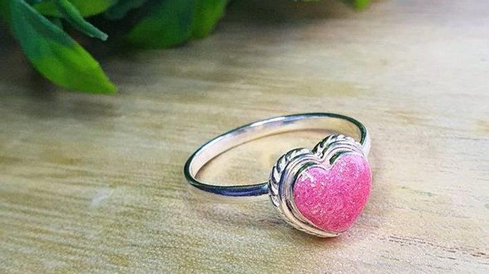 Breastmilk heart ring