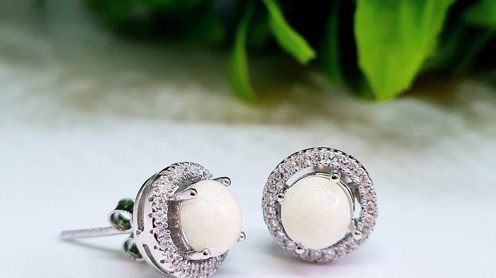 Diamante breastmilk earrings