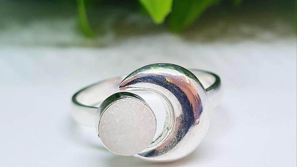 Crescent moon breast milk ring