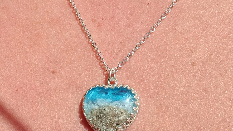 Beach theme ashes/sand necklace