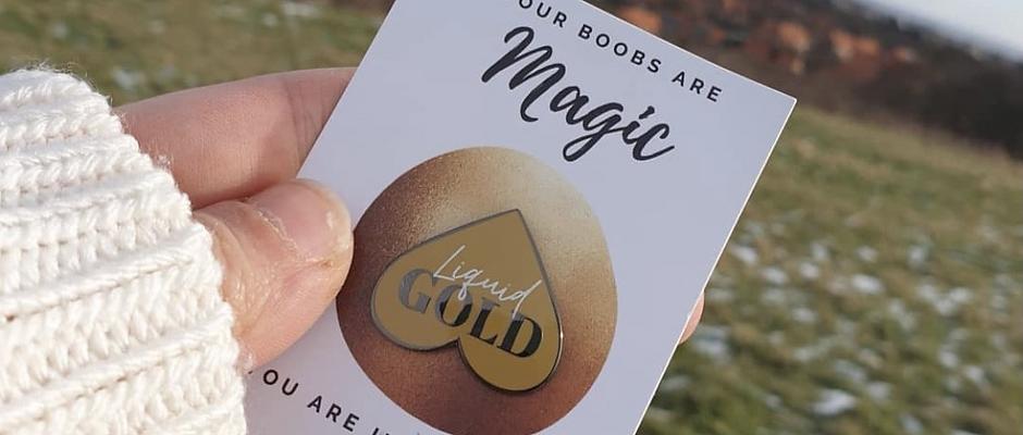 Liquid Gold Enamel Pin
