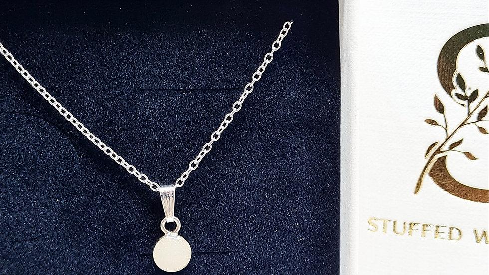 Dainty 5mm breastmilk necklace