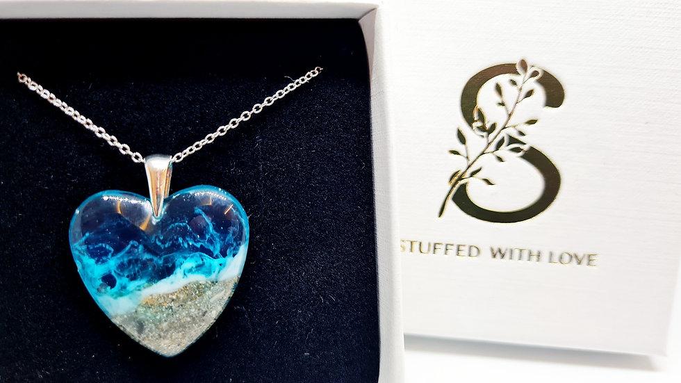 Medium ashes/sand heart pendant
