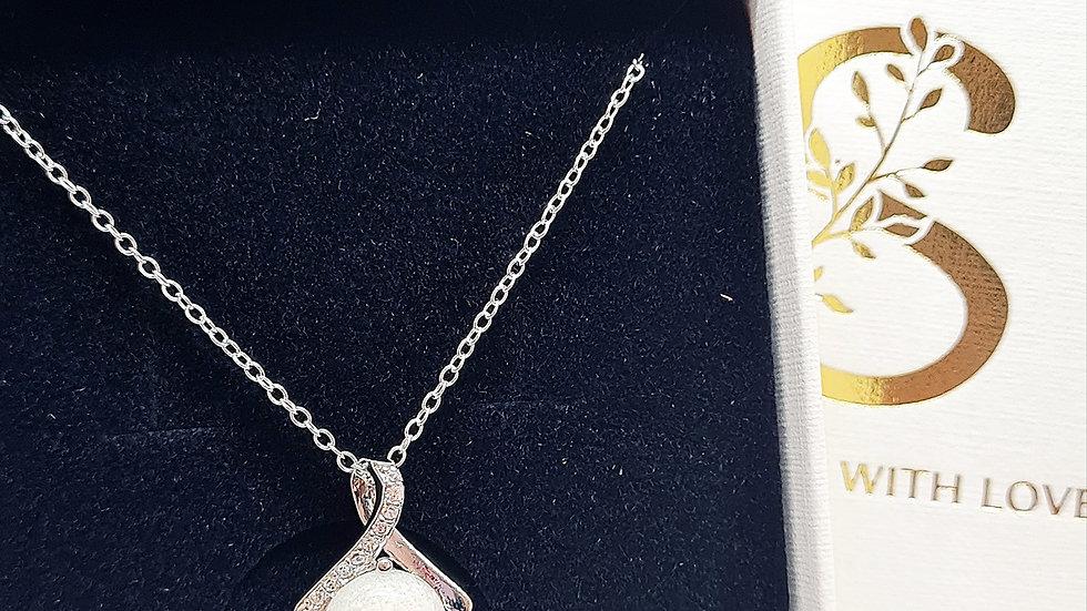 Breastmilk diamante necklace