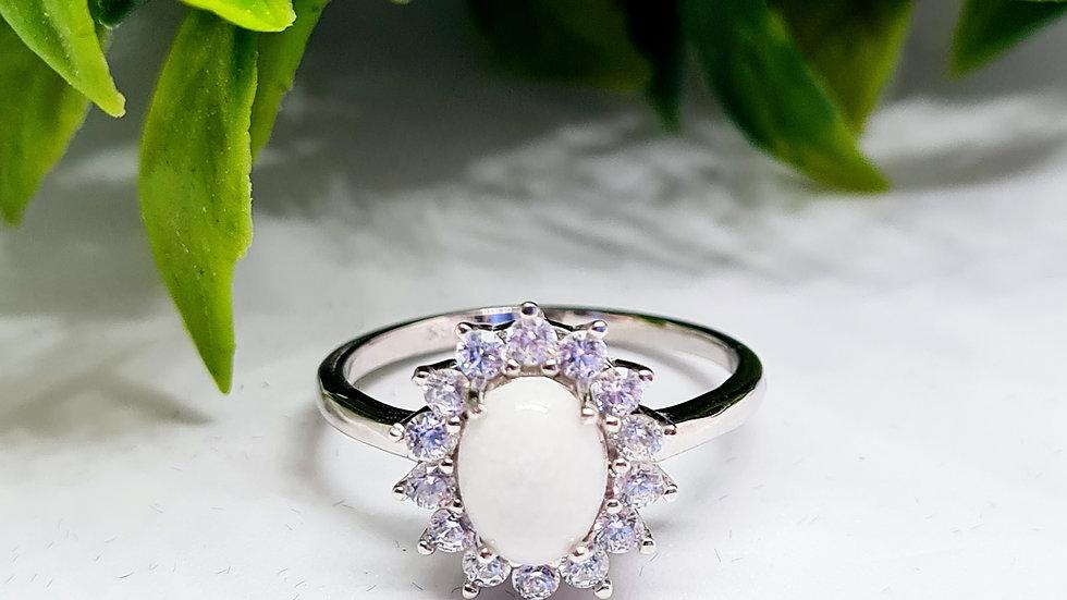 Halo diamante breastmilk ring