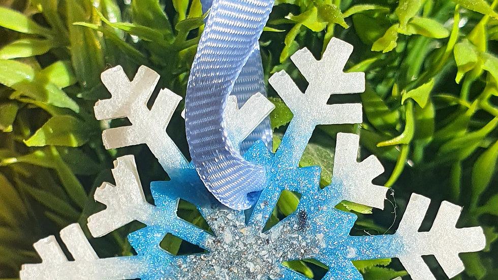 Ashes snowflake tree decoration