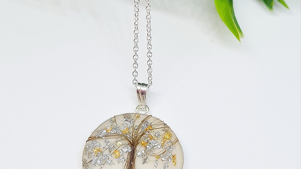 Tree of life breastmilk hair pendant