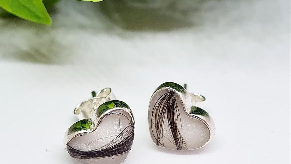 Breastmilk heart earrings