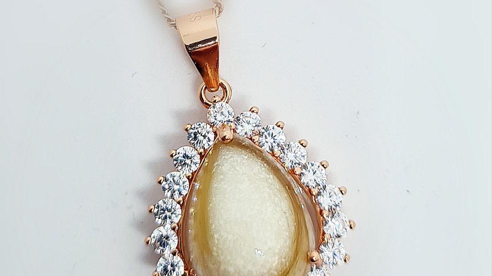 Breastmilk droplet diamante necklace