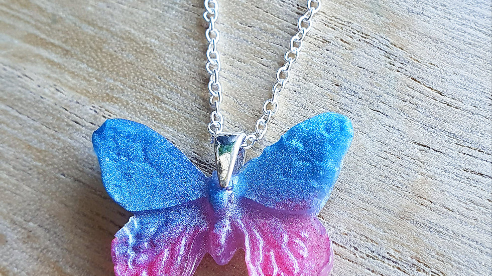 Butterfly baby and infant loss remembrance necklace