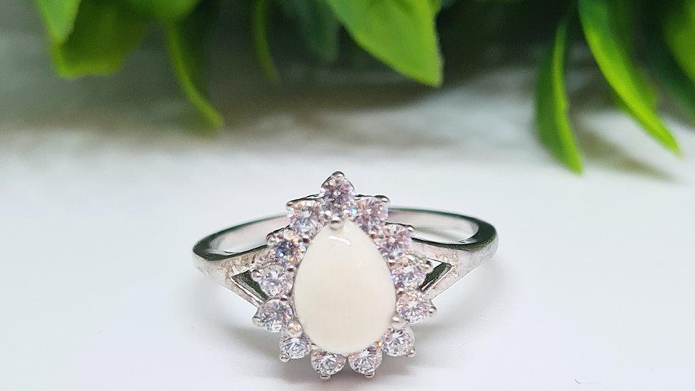 Teardrop breastmilk diamante ring