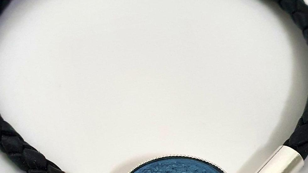 Corded leather bracelet
