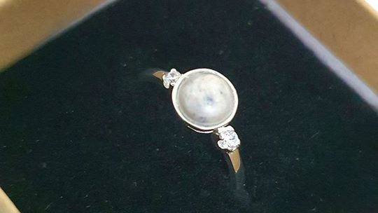 8mm inclusion ring with diamantés