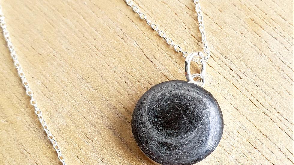 15mm circle pendant necklace