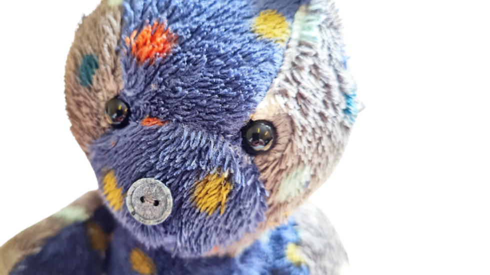 Small memory teddy WITH small ashes button
