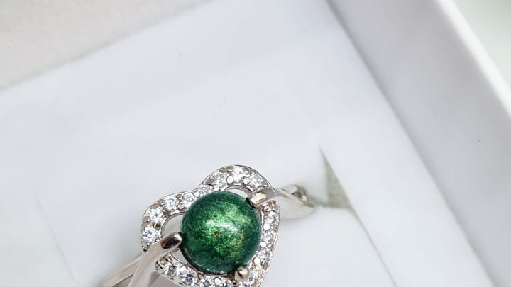 Breastmilk diamante heart ring